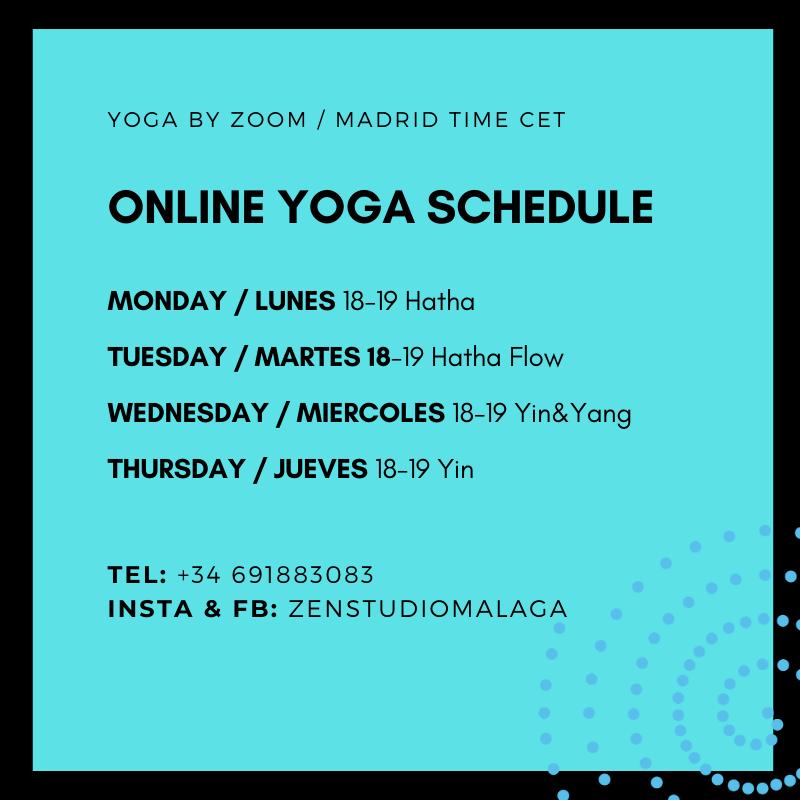 yoga schedule online